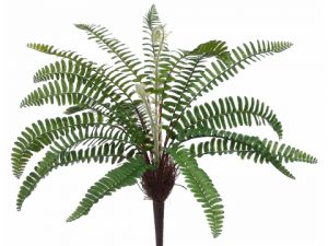 "17"" Woodland Fern Bush Green"