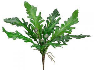 "13"" Ruffle Fern Bush Green"