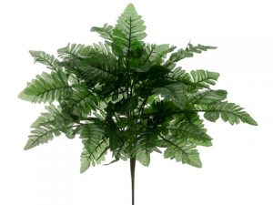"18"" Polyester Fern Bush Green"