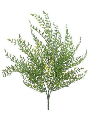 "19"" Fishtail Fern Bush Green Gray"