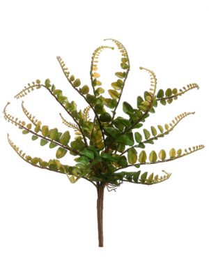 "10"" Button Fern Bush Green"