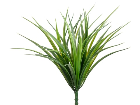 "12"" Vanilla Grass Bush with 44 Leaves Green Frosted"