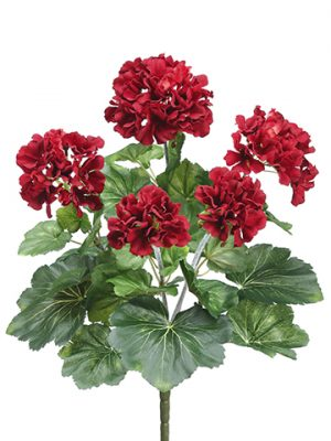 "16.5"" Geranium Bush Red"