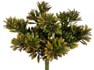 "9"" Plastic Succulent GrassBusH x 7Green Brown"