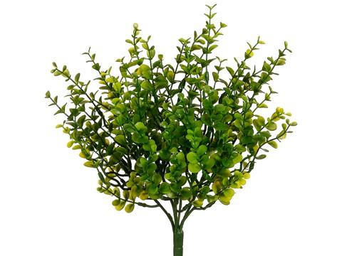 """11"""" Mini Plastic EucalyptusBush with 77 LeavesGreen"""