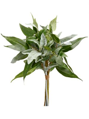 "18"" Lamb's Ear/Eucalyptus Bouquet Green Gray"