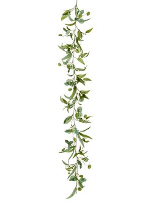 6' Eucalyptus Garland Green Gray