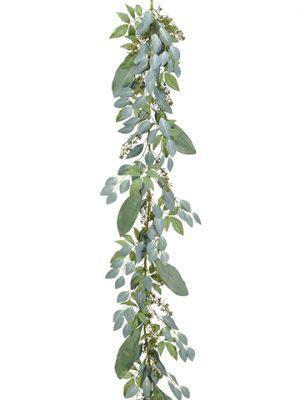 "78"" Seed Eucalyptus Garland Green"