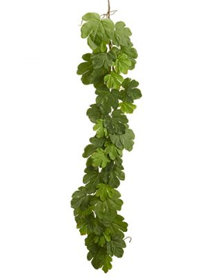 6' Fig Leaf Garland Green