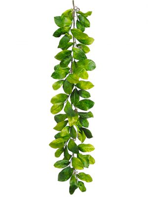 6' Magnolia Leaf Garland Green