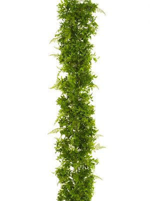 6' UV Protected Soft PE Fern/Eucalyptus Garland Green