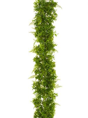 6' UV Protected Soft PEFern/Eucalyptus GarlandGreen