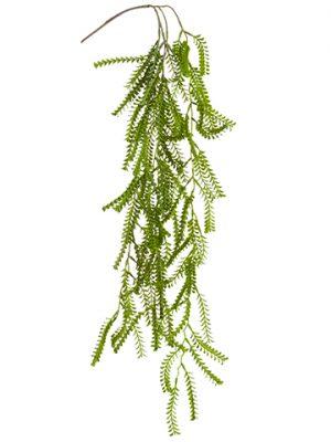 "33.5"" Mini Leaf Hanging Spray Green Gray"