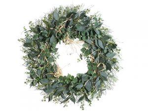 """24"""" Eucalyptus Wreath Green"""