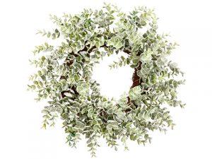 "16"" Sedum Wreath Green Gray"