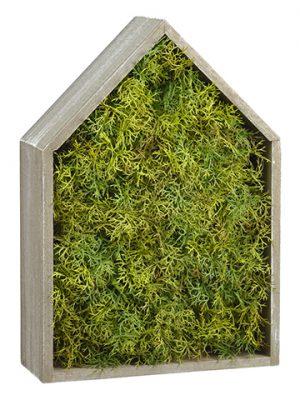 "15"" Soft PE Sprengeri WoodHouse Wall DecorGreen"