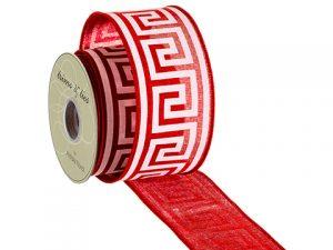 """2.5""""W x 10yd Ribbon Red White"""