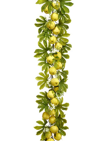 6' Apple/Blossom Garland Yellow Green