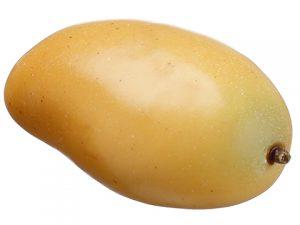 "2""H x 2.4""W x 4.2""L Mango Yellow Green"