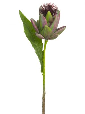 "20.5"" Artichoke Spray Green Eggplant"