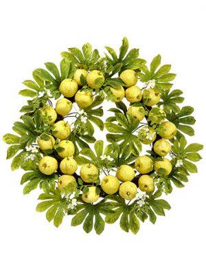 "34"" Apple/Blossom Wreath Yellow Green"