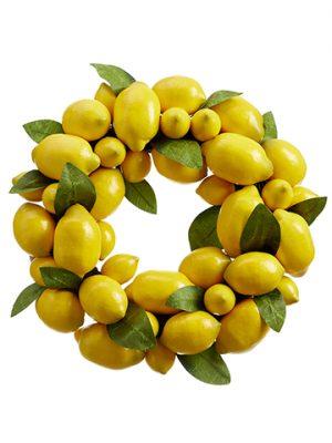 """15"""" Lemon Wreath Yellow"""