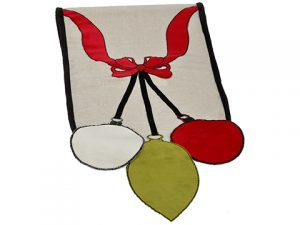 "14""W x 72""L Ornament Table Runner Red Green"