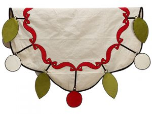 """64"""" Ornament Table Cloth Red Green"""