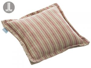"15.5""W x 15.5""L Stripe Pillow Burgundy Beige"