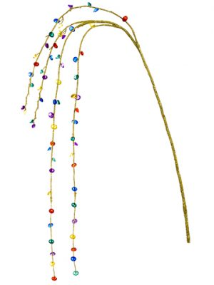 "40"" Glittered Bead Hanging Spray Mixed"