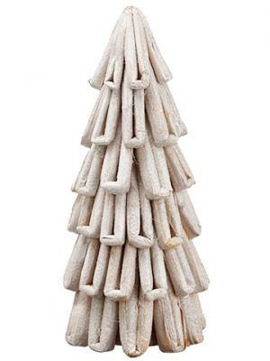 "20.5"" Glittered Loop Cone Tree Glittered White"