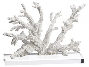 """9"""" Coral Table Top White"""
