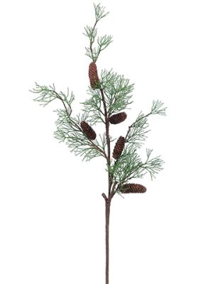 """43"""" Pine Spray With Pine Cone Brown Green"""