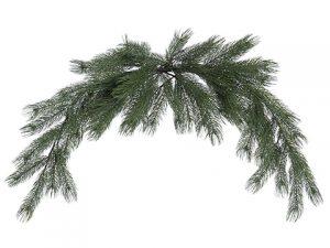 6' Pine Mantel Piece Green