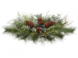 "30"" Pinew/Cedar/Eucalyptus/ConeCandleholder Green"