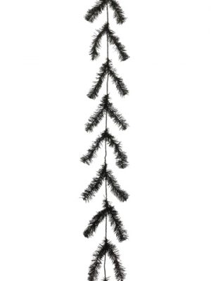 10' Pine Work Garland x44 Black