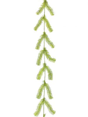 10' Pine Work Garland x44 Lime Green