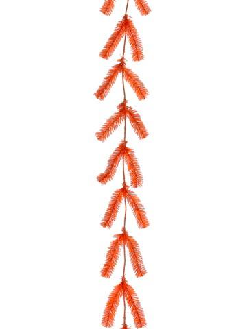 10' Pine Work Garland x44 Orange