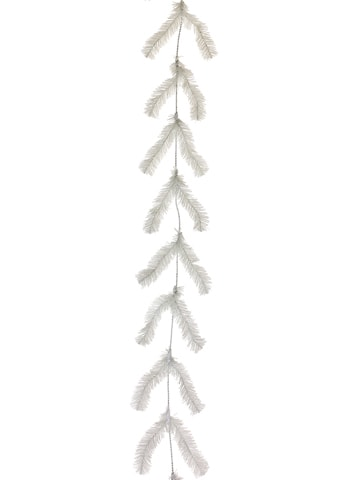 10' Pine Work Garland x44 White White