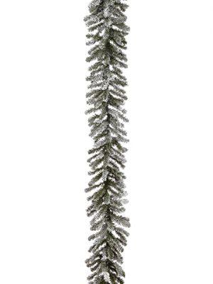 """9'Lx12""""W Snowy Balsam PineGarland x240Snow"""