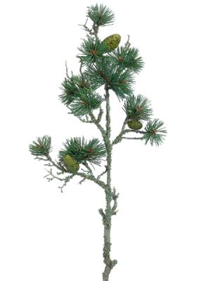 """30"""" Pine Spray With Pine Cone Green Gray"""