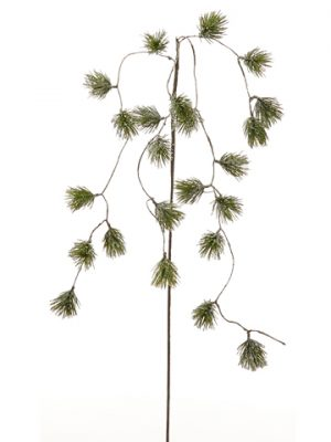 """53"""" Iced Weeping Pine Spray Frosted Green"""