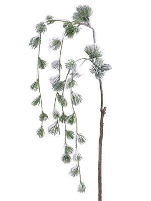 "43"" Snowed Pine Hanging Spray Green Snow"
