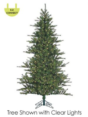 """7'Hx52""""D Southern Peace PineTree x1040 w/600 Smart ClearLights Easy Connect Green"""