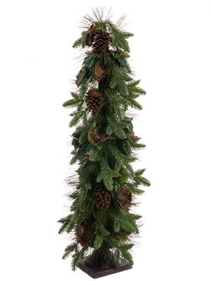 "49"" Pine/Pine Cone/Holly Tree Green Brown"