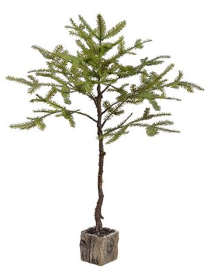 "40"" Spruce Pine Tree Branch in Pot Green"