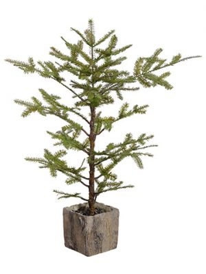 "38"" Spruce Pine Tree Branch in Pot Green"