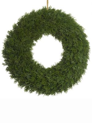 "20.75"" Cedar Wreath Green"