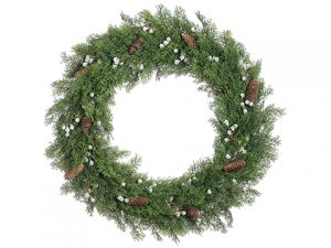"30"" Juniper/Pine Cone Wreath Green Brown"