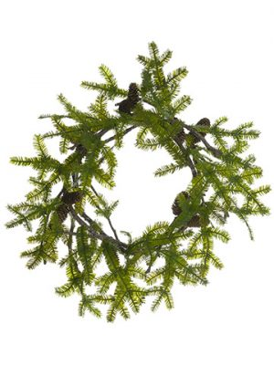 "24"" Spruce Pine Wreath With Pine Cone Green"
